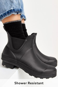 Black Ankle Wellies