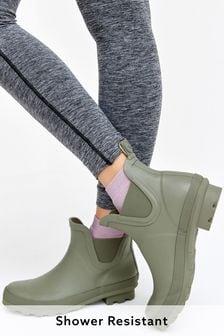 Khaki Ankle Wellies