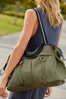 Khaki Sporty Weekend Bag