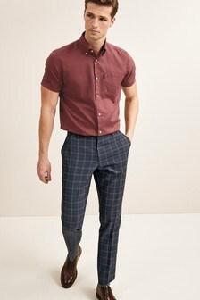 Raspberry Easy Iron Button Down Oxford Shirt