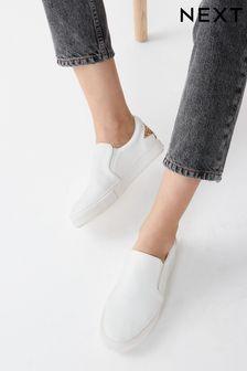 White Forever Comfort® Slip-On Trainers