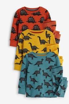 Spicy Dino 3 Pack Snuggle Pyjamas (9mths-12yrs)