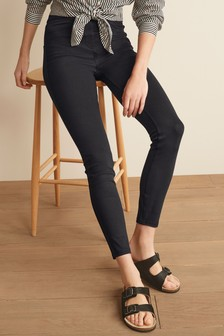 Black Jersey Denim Leggings