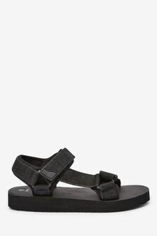 Black Explorer Sandals
