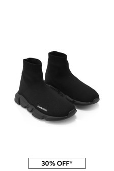 Balenciaga Kids Black Trainers