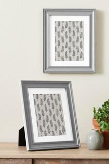 Grey Set of 2 Grey Hampton Photo Frames