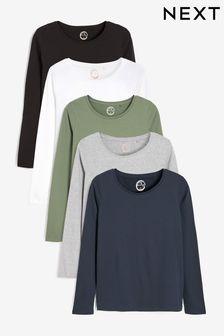 Multi Long Sleeve Tops 5 Pack