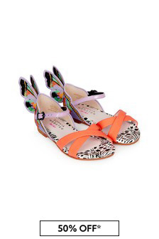 Sophia Webster Girls Multicoloured Chiara Embroidery Sandals