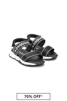 Dsquared2 Kids Boys Black Sandals