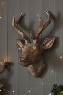 Natural Stag Head Wall Plaque