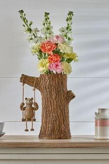 Brown Brown Bertie Bear Swing Vase