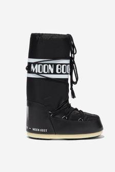 Moonboots Kids Black Nylon Snow Boots