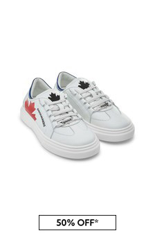 Dsquared2 Kids Boys White Trainers