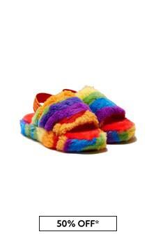 UGG Girls Fluffy Yeah Sandals