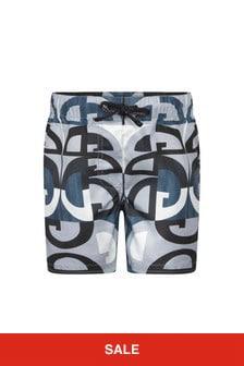 Dolce & Gabbana Kids Dolce & Gabbana Baby Boys Blue Shorts