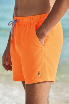 Neon Orange Essential Swim Shorts