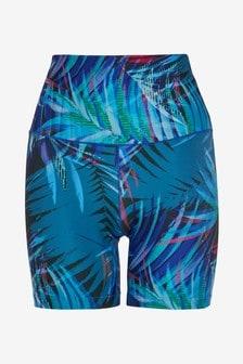 Tropical Print Sculpting Cycling Shorts