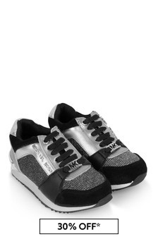Michael Kors Girls Black/Silver Trainers