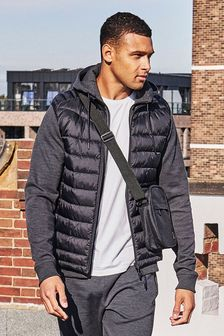 Black Quilted Gilet with DuPont Sorona® Insulation