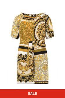 Versace Gold Silk Dress