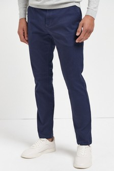 French Navy Stretch Chino Trousers