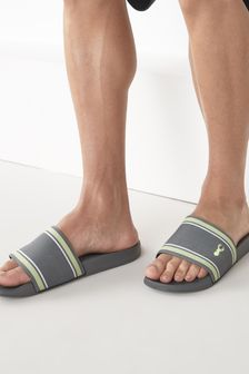 Grey Fabric Stripe Sliders