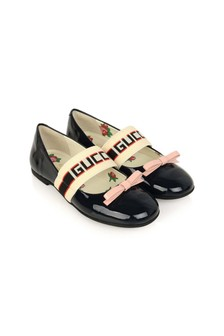 GUCCI Kids Girls Red Patent Leather Ballerina Shoes