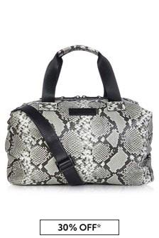 Tiba + Marl Tonal Grey Snake RAF Holdall Changing Bag