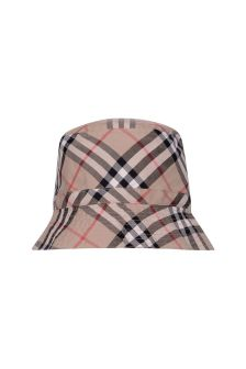 Burberry Kids Beige Vintage Check Cotton Hat