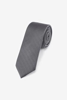 Grey Twill Tie