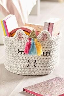 White Unicorn Knit Tub