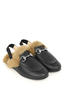 GUCCI Kids Slippers With Faux Fur