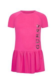 추측 소녀 핑크 드레스