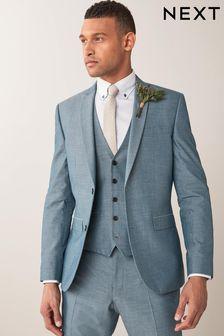 Light Blue Two Button Suit: Jacket