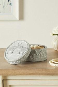 Silver Elephant Trinket Box
