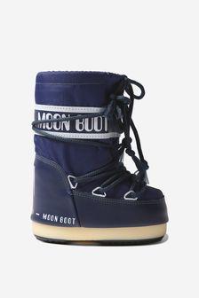Moonboots Kids Navy Nylon Snow Boots