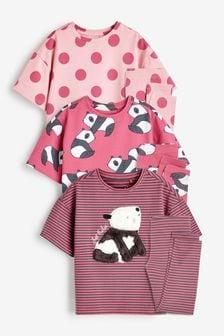 Pink/Berry Panda 3 Pack Legging Pyjamas (3-16yrs)