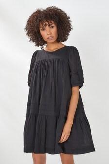 Black Pintuck Dress