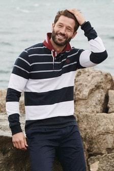 Navy/White Stripe Rugby Shirt