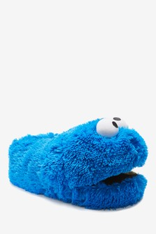 Blue Cookie Monster Slippers