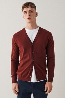 Red Lightweight Cardigan