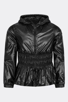 Moncler Enfant Girls Black Pocas Jacket