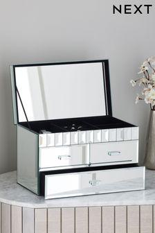 Silver Domino Large Jewellery Box