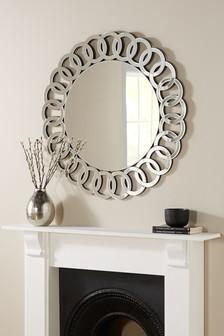 Silver Bevelled Chain Mirror