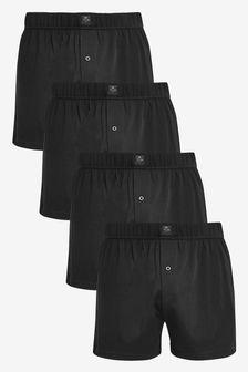 Essential Black Loose Fit Four Pack