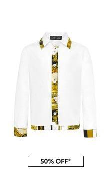 Versace 베이비 보이즈 화이트 코튼 셔츠