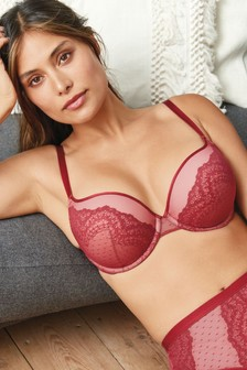 Red Push Up Triple Boost Caged Lace Mimi Bra