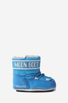 Moonboots Baby Boys Light Blue Crib Booties