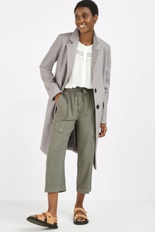Grey Revere Collar Coat