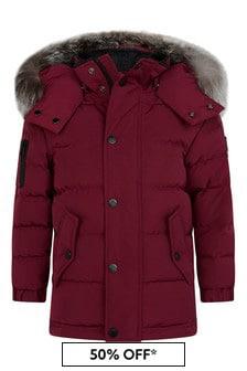 Moose Knuckles Kids Red Padded Jacket